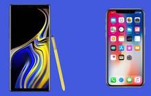 Săm soi 13 điểm hơn thua giữa Galaxy Note 9 và iPhone X dù đều có giá sàn nghìn đô!
