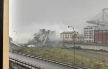 NÓNG: Sập cầu ở Genoa, hàng chục người thiệt mạng