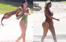 Vòng 3 trái ngược của Kendall Jenner và chị gái: Người vừa vặn tự nhiên, kẻ bơm to đến mức khác thường
