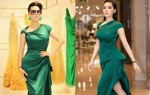 Dù gấp đôi tuổi Hoa hậu Kỳ Duyên nhưng ca sĩ Thu Phương vẫn rất tự tin khi diện cùng một thiết kế váy này
