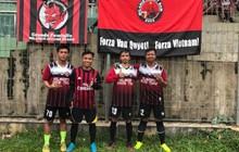 Fan Indonesia 2 trận liền căng biểu ngữ ủng hộ đội trưởng Văn Quyết và Olympic Việt Nam