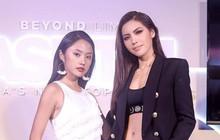 """Minh Tú - Rima Thanh Vy cuối cùng cũng có bức hình chung tại họp báo """"Next Top châu Á"""""""