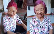 Cụ bà có mái tóc chất nhất MXH với màu tím hồng mộng mơ