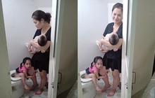 """Mẹ trẻ đánh vật với 2 con nhỏ, hạnh phúc sau mỗi ngày """"sập nguồn"""" là giây phút thấy chồng đi làm về"""