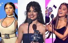 Kết quả VMAs 2018: Ariana Grande và Nicki Minaj trượt hết giải thưởng lớn, Camila Cabello thắng đậm