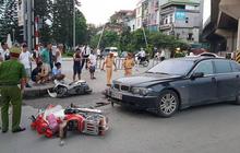 Hà Nội: Nữ tài xế lái BMW gây tai nạn liên hoàn, kéo lê một cháu bé