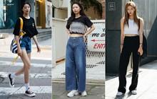 Bí kíp mặc đẹp của giới trẻ Hàn tuần qua gói gọn trong 2 thứ: quần cạp cao và sự đơn giản
