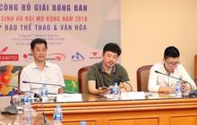 Giải bóng bàn học sinh Hà Nội mở rộng 2018 quy tụ những tay vợt xuất sắc nhất ở nội dung nâng cao