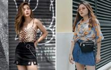 """Street style 2 miền: Công thức """"hot"""" nhất được các bạn trẻ thi nhau diện chính là crop top + chân váy ngắn"""