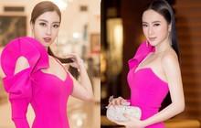 Nhẹ nhàng, mong manh như HH Đỗ Mỹ Linh cũng có tới 3 lần đụng độ váy áo với người đẹp nóng bỏng Angela Phương Trinh