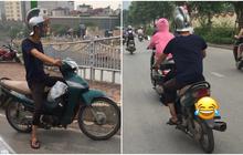 """Bắt gặp """"Spartacus phiên bản Việt"""" đi dép tông cưỡi Wave xanh dạo phố Hà Nội"""