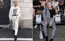 """Vốn """"nhẵn mặt"""" tại fashion week, lần này Kelbin Lei lại ngồi hàng ghế đầu của Moschino và Armani"""