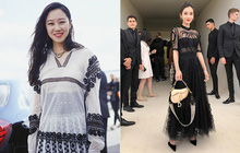 """Angela Baby mặc váy đen mà nổi bần bật, Gong Hyo Jin diện nguyên """"set đồ người mẫu"""" dự show Dior"""