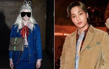 Kai (EXO) cùng dàn khách mời đình đám quy tụ tại show Gucci, ố á nhìn người mẫu băng mắt đen xì mà vẫn catwalk ngon lành