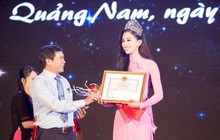 Đăng quang Hoa hậu Việt Nam 2018, Trần Tiểu Vy được UBND tỉnh Quảng Nam tặng giấy khen