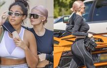 Kylie Jenner diện đồ thể thao khoe đường cong bên siêu xe sang chảnh