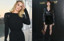 """Lee Sung Kyung chân bé xíu, Lindsay """"lép vế"""" trước Rosie Huntington-Whiteley tại show Saint Laurent"""
