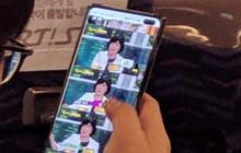 Samsung Galaxy S10+ lộ diện trên xe bus tại Hàn Quốc, có lỗ hình thoi dành cho 2 camera trước