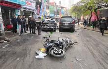 """Hà Nội: Ô tô """"điên"""" gây tai nạn liên hoàn, cụ bà 73 tuổi đi bộ dưới lòng đường bị đâm tử vong"""