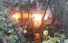 TP. HCM: Căn nhà tại cơ sở câu cá bốc cháy, nhiều cần thủ bỏ chạy tán loạn