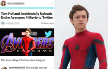 """Quen thói """"bà tám"""", Nhện Tom Holland lỡ làm lộ cả phần """"Avengers 4"""" lên Twitter?"""
