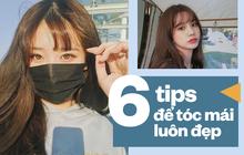 Học thuộc những tips sau để có phần tóc mái đẹp như gái Hàn