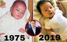 """Con trai mới sinh giống Victor Vũ phiên bản 1975 đến nỗi có người phải thốt lên: """"Đúng là photocopy""""!"""