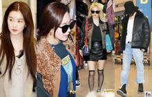 Dàn idol hot nhất nhà SM đổ bộ sân bay: Nữ thần Irene lôi thôi vẫn xinh, nhưng bị 2 đàn chị SNSD chiếm hết spotlight