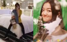 Mới 12 tuổi, cô con gái hở hàm ếch của Vương Phi - Lý Á Bằng đã sở hữu đôi chân dài tít tắp