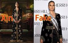 """""""Phốt"""" lớn đầu năm: Hoa hậu Hoàn vũ 2018 bị tố mặc váy nhái đến New York Fashion Week"""