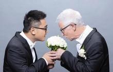 Chàng trai Đài Loan hạnh phúc kết hôn với cụ ông người Anh hơn mình 51 tuổi