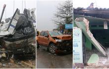 Hiện trường vụ tai nạn liên hoàn trên Quốc lộ 1A khiến 8 người thương vong