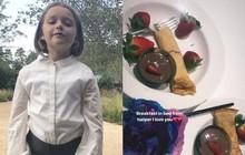 Harper Beckham là em chồng trong mơ của mọi cô gái: 7 tuổi đã tự tay làm bữa sáng cho chị dâu tương lai!