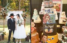 Hot trend thế giới đua nhau cưới theo phong cách Tinder: Tự design bánh, ảnh, thiệp cưới nhìn là mê