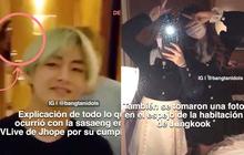 Rùng mình cảnh BTS đang livestream, nhóm fan cuồng đột nhập làm loạn và còn lén chụp ảnh khi em út Jungkook tắm