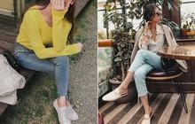 Không cần nghĩ nhiều khi diện quần jeans, các nàng cứ mix cùng 3 mẫu giày này là đẹp tuyệt đối