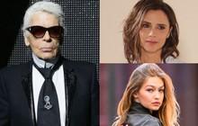 """Victoria Beckham, Gigi Hadid bàng hoàng, bày tỏ tiếc thương vô hạn trước sự ra đi của """"Huyền thoại Chanel"""" Karl Lagerfel"""