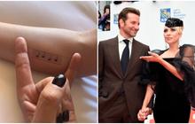 """Lady Gaga tiết lộ hình xăm mới, fan càng thêm tin cô nàng và Bradley Cooper """"phim giả tình thật"""""""