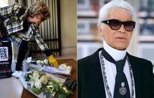 Người hâm mộ đau buồn, dâng hoa tưởng nhớ ngài Karl Lagerfeld trước cửa store Chanel tại Paris