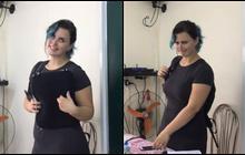 """Cô giáo Tây tại Việt Nam với mái tóc xanh cá tính và biểu cảm siêu dễ thương làm """"chao đảo"""" cộng đồng mạng"""