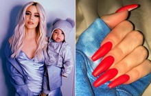 """Bí ẩn: Làm sao cô chị vừa bị """"cắm sừng"""" của Kylie Jenner có thể thay tã cho con với bộ nail cả cây số?"""