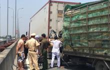 Xe tải húc đuôi container trên cao tốc TP HCM - Long Thành - Dầu Giây, 2 người chết, 1 người đi cấp cứu
