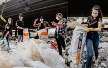 """Hoa hậu Phương Khánh, Han Sara và nhóm Uni5 nhiệt tình thực hiện """"Thử thách dọn rác"""", làm sạch rác dưới chân cầu Sài Gòn"""