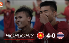 Highlights U23 Việt Nam 4-0 U23 Thái Lan