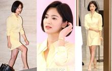 """Lâu lắm mới dự sự kiện ở Hàn, Song Hye Kyo quá đẹp nhưng lại để lộ bộ phận """"một trời một vực"""" so với ảnh tạp chí"""