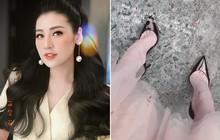"""Á hậu Dương Tú Anh và """"cái kết"""" nhìn thôi cũng thấy đau khi đi giày cao gót"""