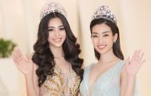Đỗ Mỹ Linh - Trần Tiểu Vy cùng chọn váy khoét ngực hững hờ, đọ sắc trong sự kiện khởi động Miss World Việt Nam