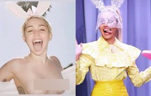 Nàng thỏ hot nhất Lễ Phục Sinh 2019: Làm cô dâu chưa lâu, Miley Cyrus tiếp tục nude 100%, khoe ngực trần táo bạo