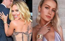 """Tìm ra giá của chuỗi đá vô cực """"đời thực"""" Scarlett Johansson và """"Captain Marvel"""" đeo trên thảm tím """"Avengers"""""""