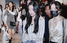 Nữ thần Irene khoe nhan sắc đời thực cực phẩm, Joy sexy bên dàn mỹ nhân Red Velvet tại sân bay Tân Sơn Nhất
